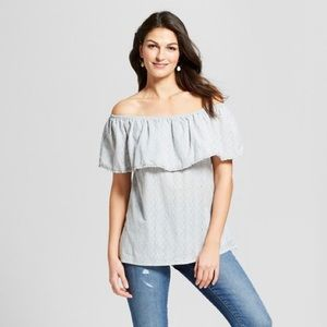 NWT Knox Rose off the shoulder blouse Large